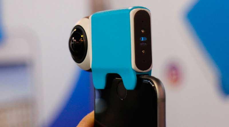Giroptic IO iPhone снимает видео под углом 360 градусов