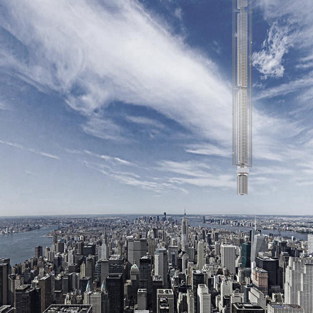 В США показали проект небоскреба, подвешенного к астероиду