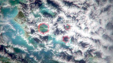 Над Бермудским треугольником образуются шестигранные облака