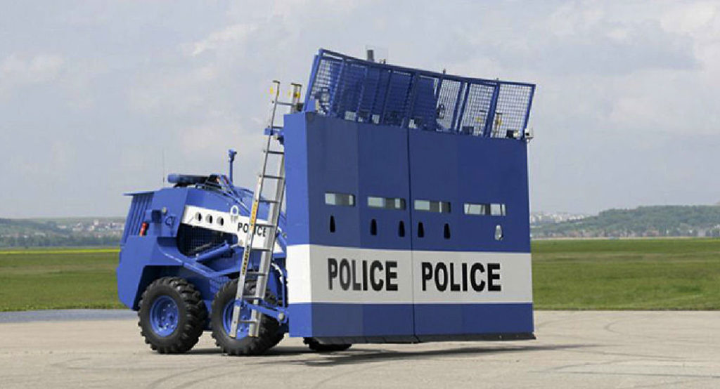 Машину для подавления беспорядков сделали в Словакии