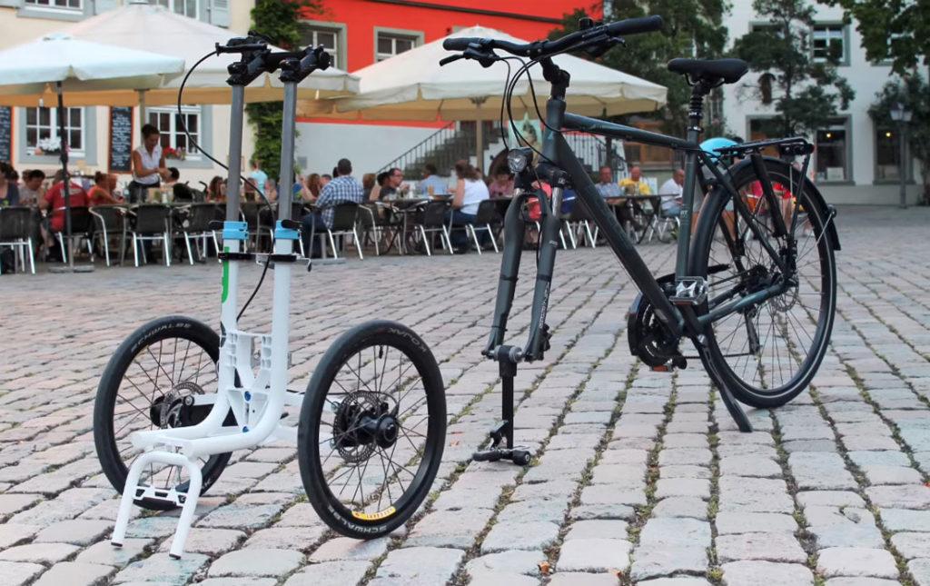 Велосипед со съемной тележкой TReGo