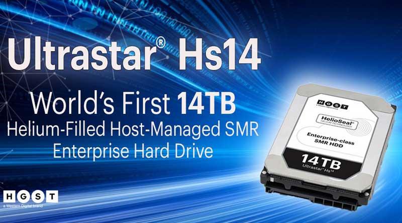 Western Digital представила жёсткий диск на 14 ТБ